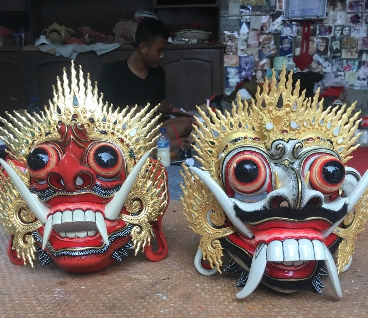 Deux Topeng de maitre Kadek Juliana
